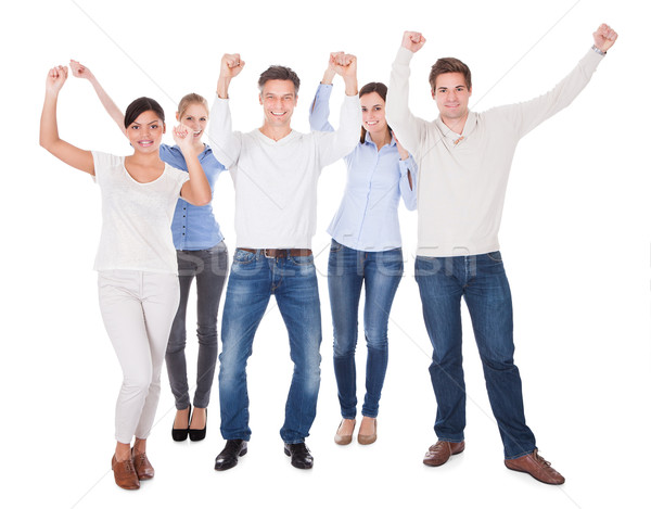 Group Of People Raising Hand Stock photo © AndreyPopov