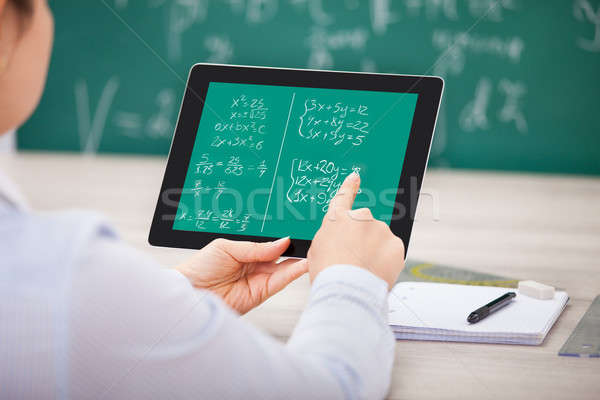 Student Learning Mathematical Equations Stock photo © AndreyPopov