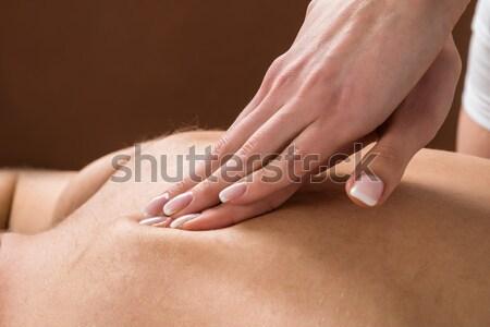 Giovane indietro massaggio primo piano donna Foto d'archivio © AndreyPopov