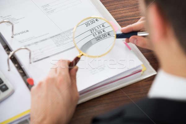 Businessman Analyzing Tax Stock photo © AndreyPopov