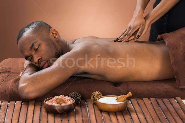 человека массаж Spa молодые африканских женщину Сток-фото © AndreyPopov