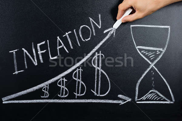 Inflation Concept Drawn On Blackboard Stock photo © AndreyPopov
