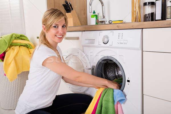женщину одежды стиральная машина мнение Сток-фото © AndreyPopov