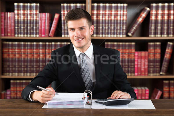 Portrait Of A Male Accountant In Courtroom Stock photo © AndreyPopov