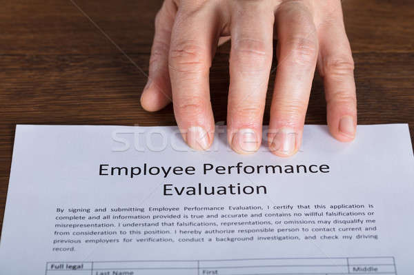 Close-up Of A Performance Evaluation Form Stock photo © AndreyPopov