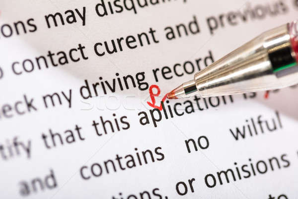 Correcting Application Word Stock photo © AndreyPopov