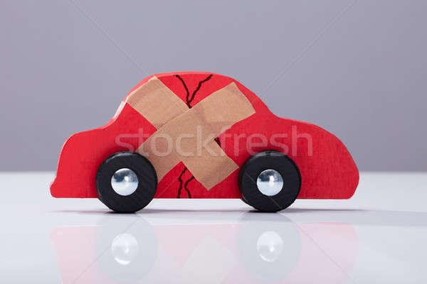 Auto rotta cross band aiuto rotto rosso Foto d'archivio © AndreyPopov