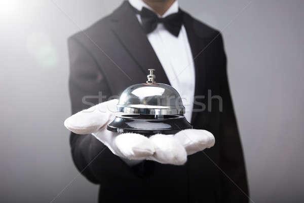 ウェイター サービス 鐘 クローズアップ 手 ストックフォト © AndreyPopov