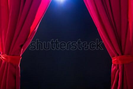 Roşu perdea întuneric abstract concert Imagine de stoc © AndreyPopov