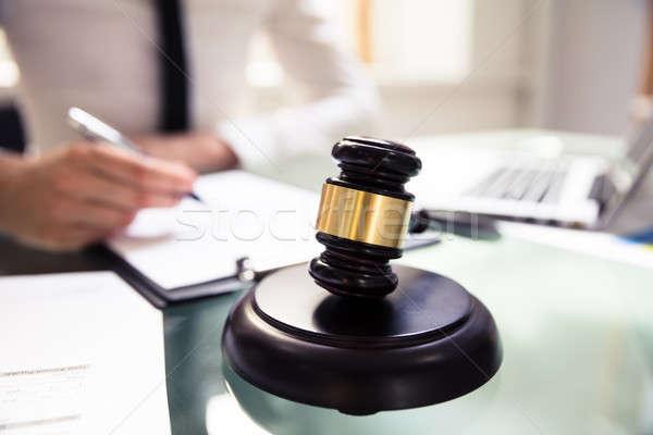 Close-up Of Judge Gavel Stock photo © AndreyPopov