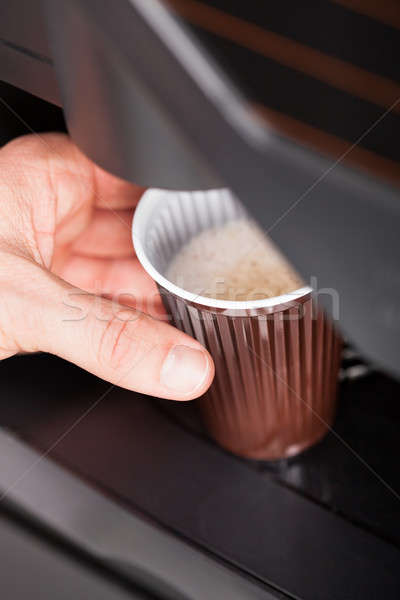 Close up of automatic coffee machine Stock photo © AndreyPopov