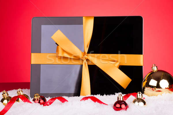 Blank Digital Tablet With Christmas Baubles Stock photo © AndreyPopov