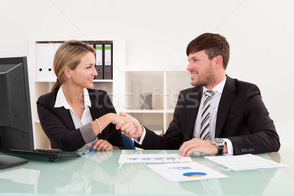 Meeting for joint business venture Stock photo © AndreyPopov