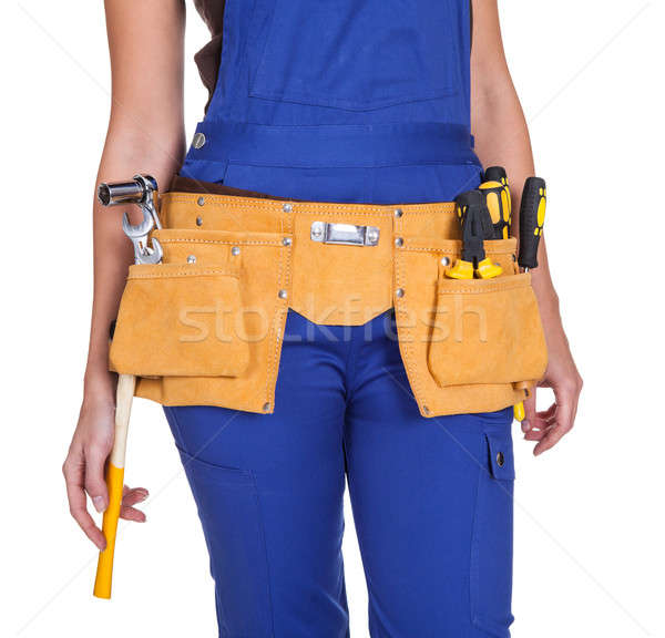Female Construction Worker With Toolbelt Stock photo © AndreyPopov