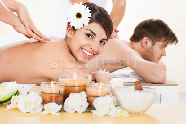 Couple Receiving Massage At Spa Stock photo © AndreyPopov