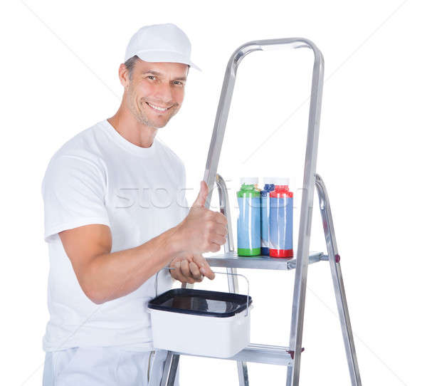Painter With Swatch Book Stock photo © AndreyPopov