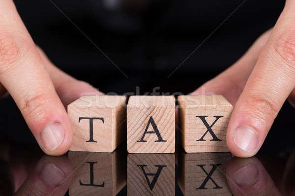 Imprenditore fiscali blocchi immagine desk Foto d'archivio © AndreyPopov
