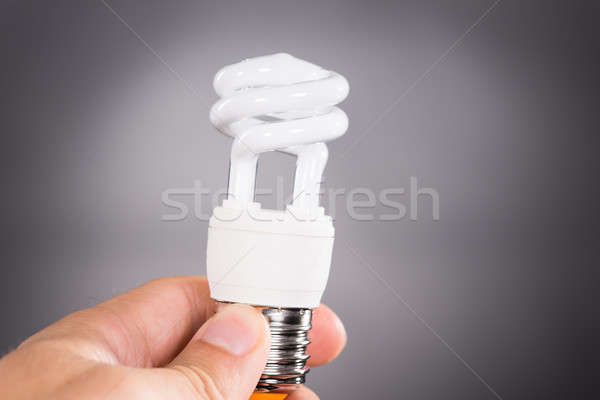 Hand holding energy efficient light bulb Stock photo © AndreyPopov