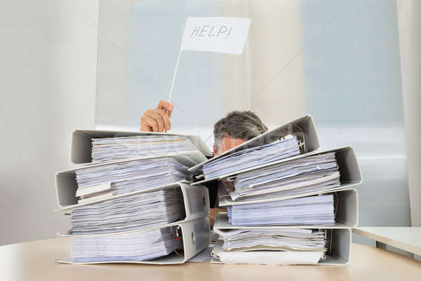 Stock photo: Businessman Asking For Help