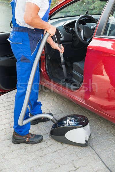 работник автомобилей пылесос низкий зрелый Сток-фото © AndreyPopov