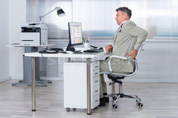 商业照片: 会计 · 办公桌 · 侧面图 · 办公室