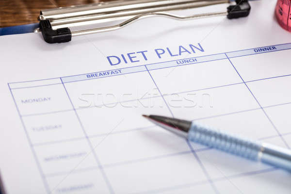 Close-up Of Diet Plan Form Stock photo © AndreyPopov