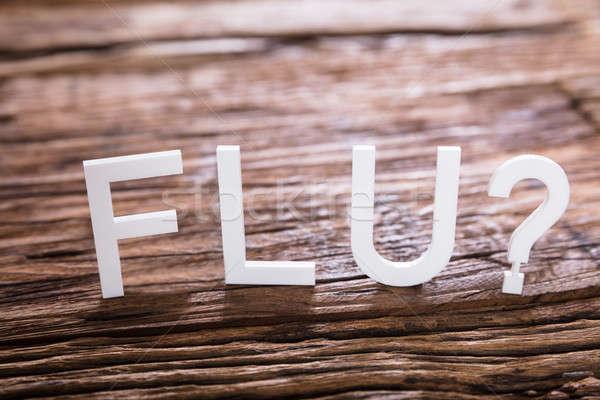 грипп текста вопросительный знак знак Сток-фото © AndreyPopov