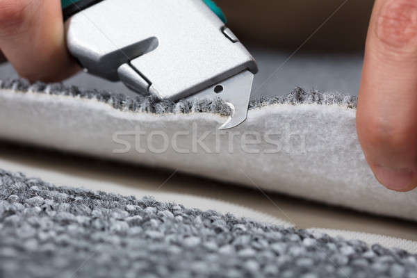 Carpenter Shaping Carpet Stock photo © AndreyPopov