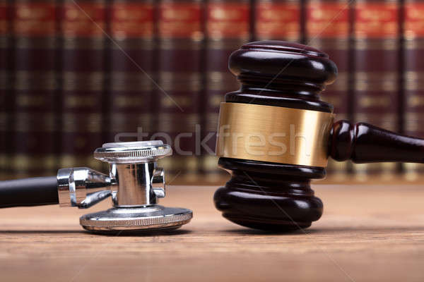 Close-up Of Stethoscope And Mallet Stock photo © AndreyPopov