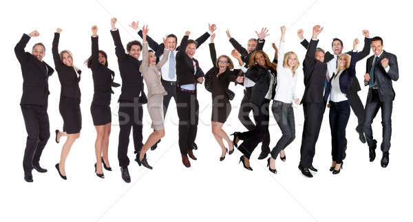 Group of people excited business people Stock photo © AndreyPopov