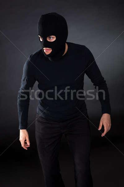 Thief wearing a balaclava Stock photo © AndreyPopov