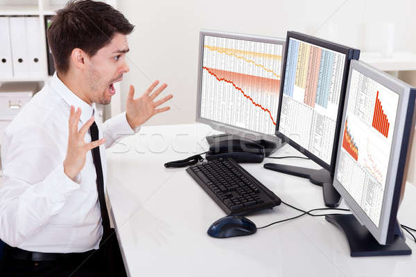 Worried stock broker Stock photo © AndreyPopov