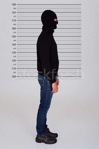 Burglar Standing Against Police Lineup Stock photo © AndreyPopov