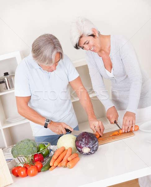 Paar maaltijd aantrekkelijk Stockfoto © AndreyPopov
