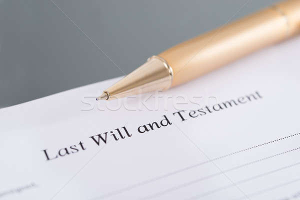 Last Will and Testament Stock photo © AndreyPopov