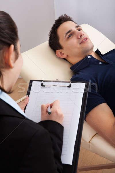 пациент психолог Дать отмечает мужчины Сток-фото © AndreyPopov