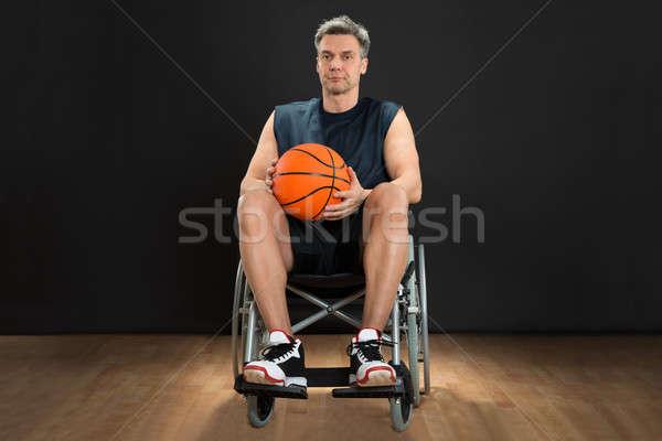 Disabili giocatore sedia a rotelle ritratto basket Foto d'archivio © AndreyPopov