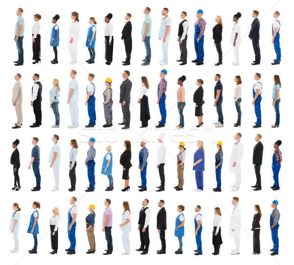 People With Various Profession Standing In Line Stock photo © AndreyPopov