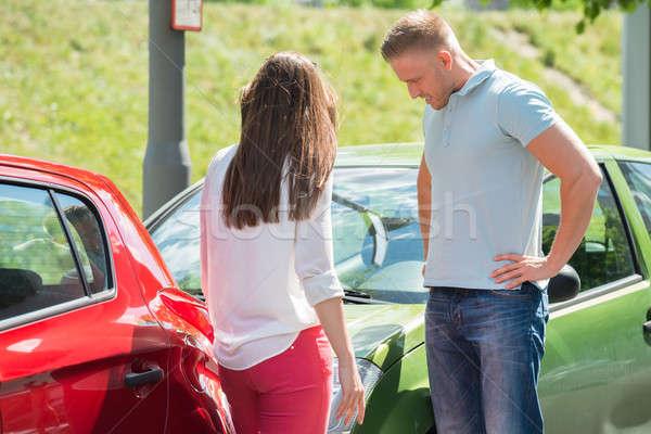 Couple Looking At Broken Down Car Stock photo © AndreyPopov