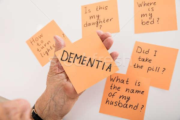 Strony karteczkę demencja Zdjęcia stock © AndreyPopov