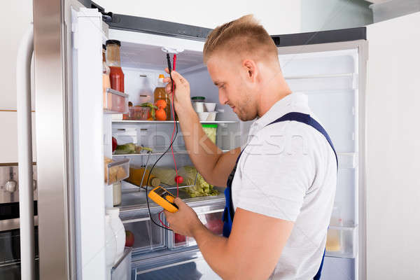 Buzdolabı genç dijital ev gıda Stok fotoğraf © AndreyPopov
