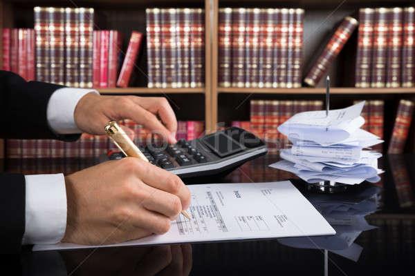 Richter Rechnung Gerichtssaal Rechner Business Stock foto © AndreyPopov