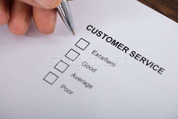 顧客サービス 満足 調査 フォーム クローズアップ 人 ストックフォト © AndreyPopov