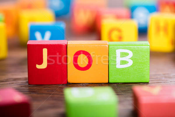 Job Word On Colorful Blocks Stock photo © AndreyPopov