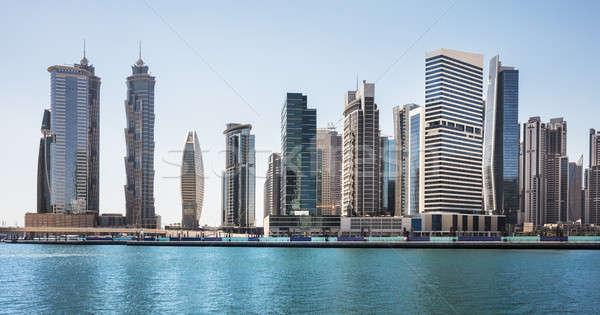 Działalności panoramę Emiraty niebo wody budynku Zdjęcia stock © AndreyPopov