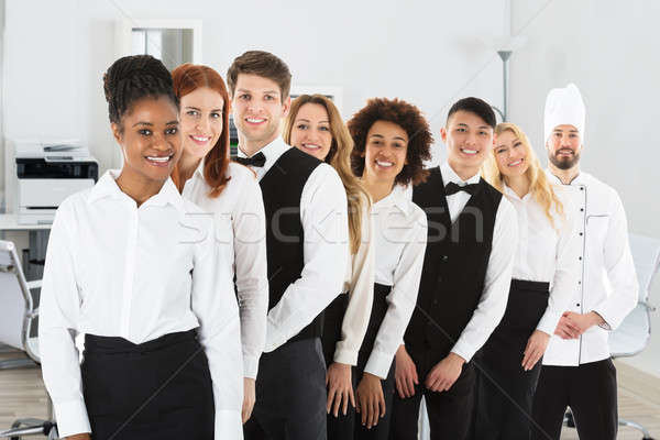 Multi Ethnic Restaurant Staff Stock photo © AndreyPopov