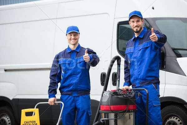 Portrait Of Two Happy Male Janitors Stock photo © AndreyPopov