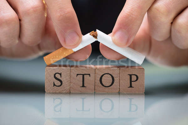 Person Quitting Smoking Stock photo © AndreyPopov
