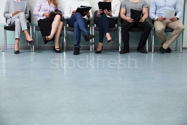 Csetepaté ül szék állásinterjú üzlet csapat Stock fotó © AndreyPopov