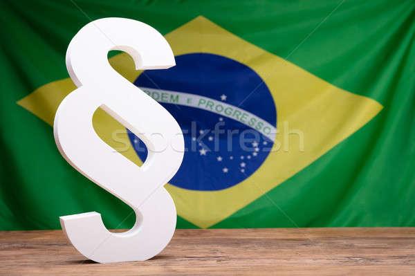 Absatz Symbol Brasilien Flagge weiß Stock foto © AndreyPopov